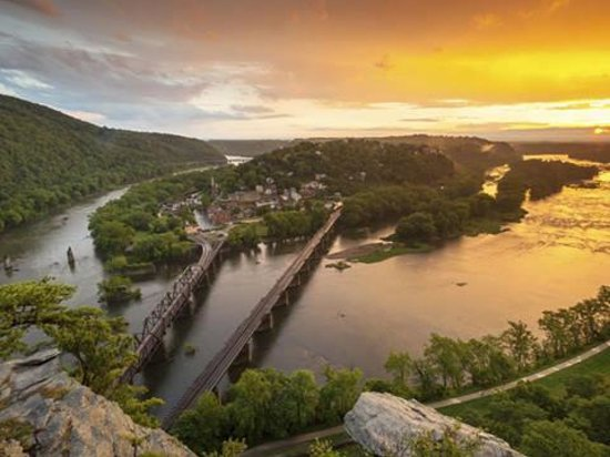 Harpers Ferry WV at the junction of 3 states and 2 great rivers