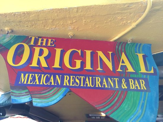 Original Mexican Restaurant: Sign