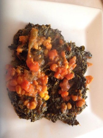 Kabul House: Spinach appetizer.