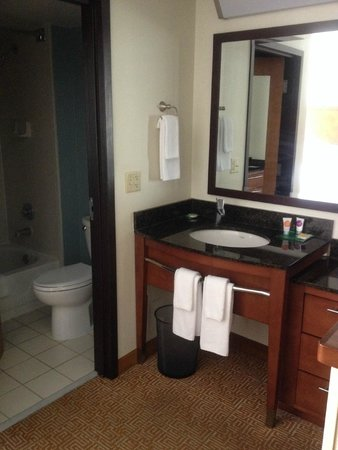 """Hyatt Place Albuquerque/Uptown: Sink with """"dresser"""" drawers on right side"""