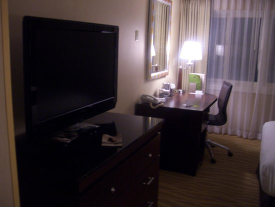 DoubleTree by Hilton Hotel Burlington: tv and desk