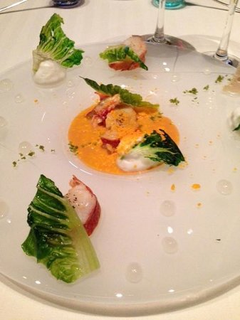 Restaurant Guy Savoy : Lobster salad with sweet onion mouse
