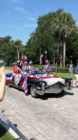 The Cloister at Sea Island: july 4th parade, awesome!!!!