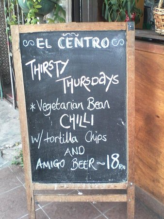 El Centro: Thirsty Thursday drink and beer deals.