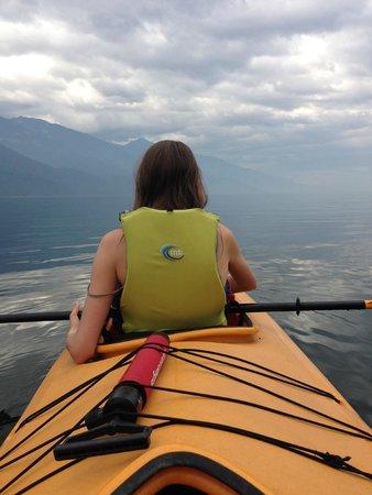 Kaslo Kayaking: In our tandem kayak