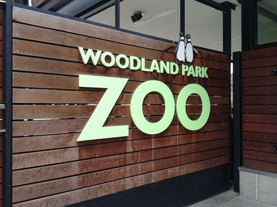 Woodland Park Zoo: park sign