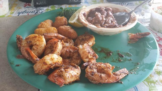 Boss Oyster: Grilled Shrimp with Red Beans & Rice