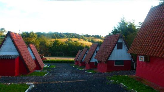 Sao Sepe, RS: vista geral das cabanas.