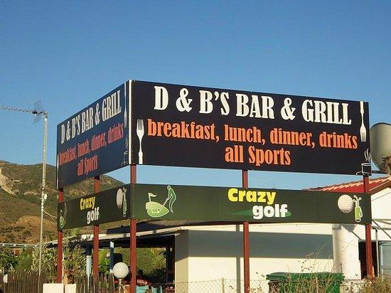 D & B's Bar & Restaurant: D & B's Bar & Grill Kalamaki
