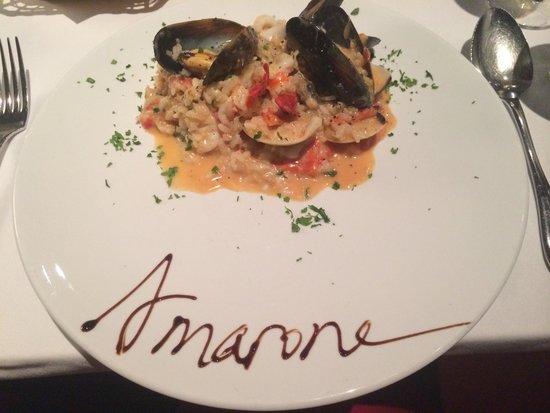 Ristorante Amarone: Seafood risotto