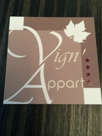 Vign'appart: Hotel business card