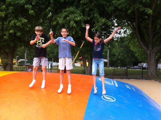 Boston/Cape Cod KOA: Kids loved the jumping pillow