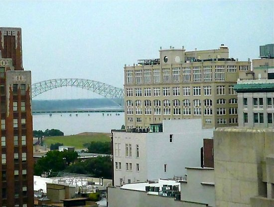 The Peabody Memphis: View of the Mississippi River from my room at The Beautiful Peabody Hotel