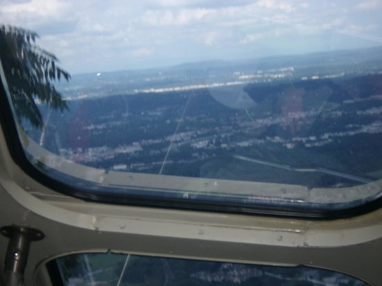 The Lookout Mountain Incline Railway: View from roof of train