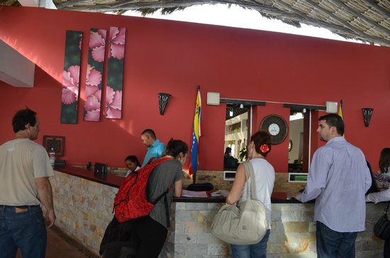 Coche Paradise Hotel Isla Margarita: recepcion