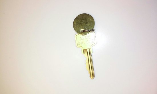 Mountain Laurel Resort & Spa: An actual key, which must be returned or $25 fee