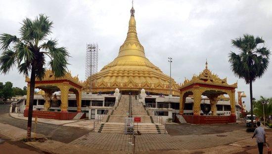 Global Vipassana Pagoda: A far view of imposing Pagoda