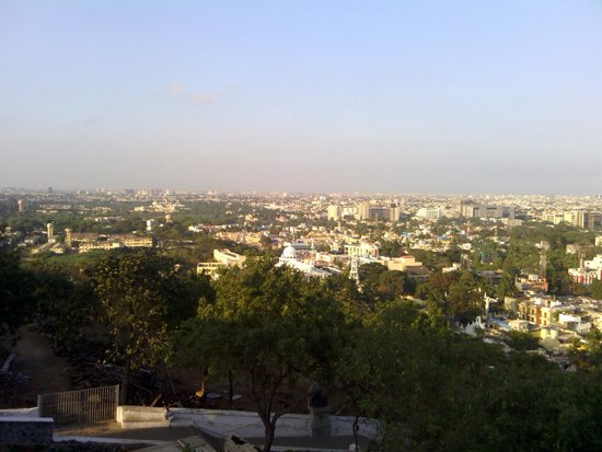 St. Thomas Mount National Shrine : A view of Chennai from the top of St. Thomas Mount