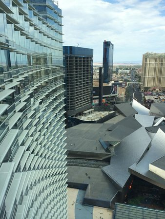 ARIA Resort & Casino: View from room - tearing down condos which are not built to code