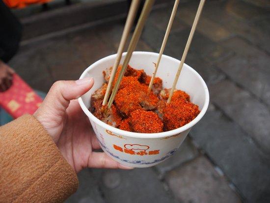 Ci Qi Kou (Porcelain Village): fried goat meat with chilli