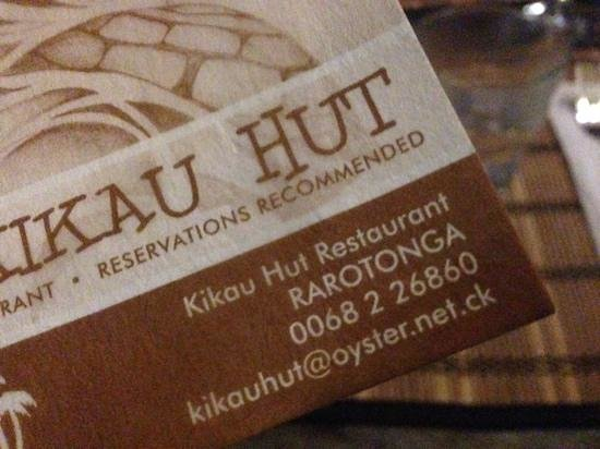 Kikau Hut Restaurant: recoomend booking