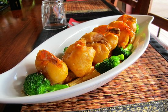 Honey prawn picture of lemongrass thai cuisine for Authentic thai cuisine portland or