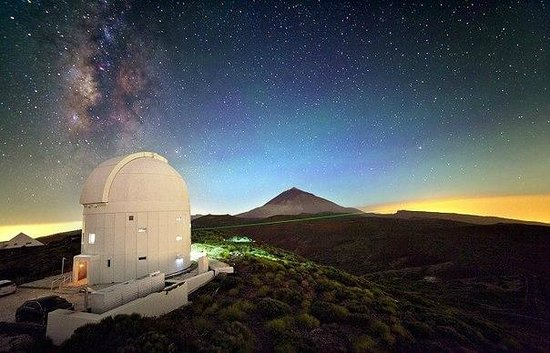 Teide National Park, Spania: Ночной Тейде и обсерватория о.Тенерифе