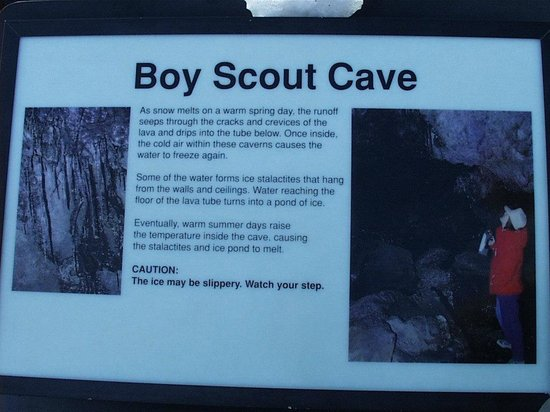 Craters of the Moon National Monument: Boy Scout cave is small and steep - not suitable for the elderly