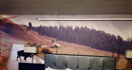 The Rushmore Hotel & Suites: Mural over bed