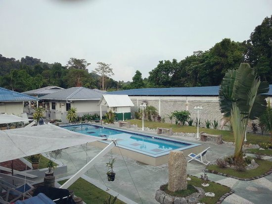 Nipah Guesthouse : View from tower cottage - swimming pool