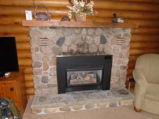 Breezy Point Resort: Gas fireplace