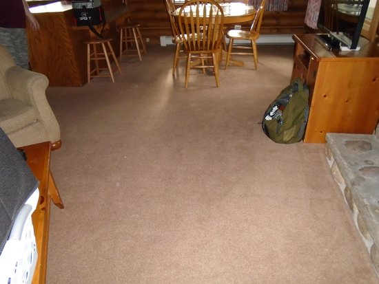Breezy Point Resort: Carpet stained in places, but passed the white socks test