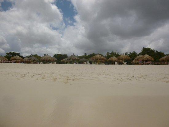 La Quinta Beach Resort: View from the sea to the La Quinta beach huts