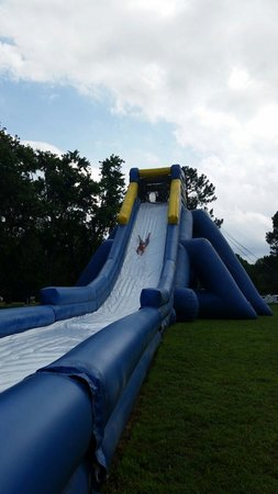 American Heritage RV Campground: Hippo slide!