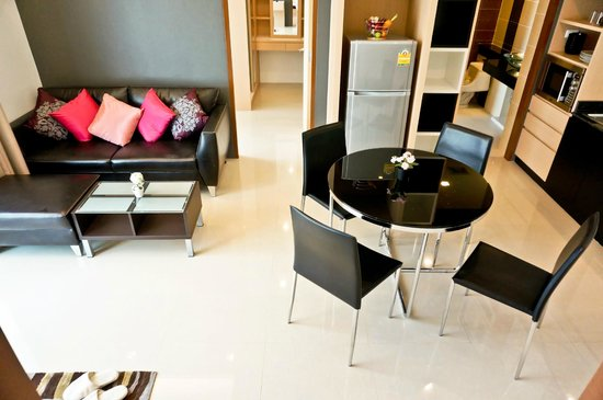 Royal Kamala Phuket Condominium: Living room area in 2-bedroom apartment