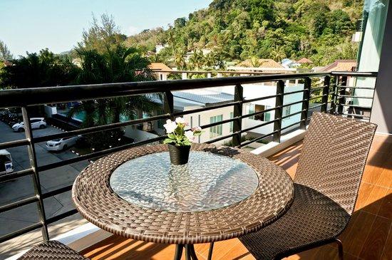 Royal Kamala Phuket Condominium: Balcony from 2-bedroom apartment
