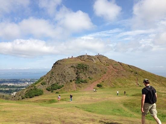 Arthur's Seat: getting close to the summit