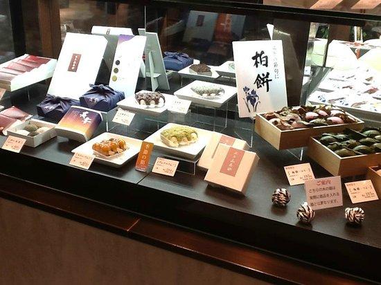 Ginza, vetrina de doces empacotados