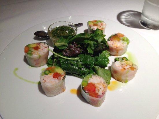 Market : Lobster rolls in rice paper.