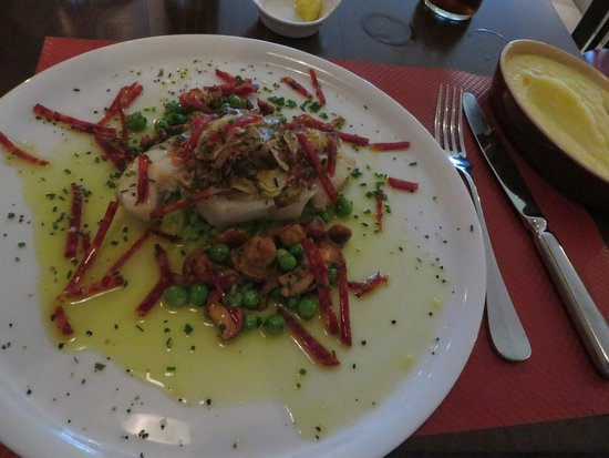 Bistrot Chaud-Vin: Cod and chorizo with perfect mashed potato