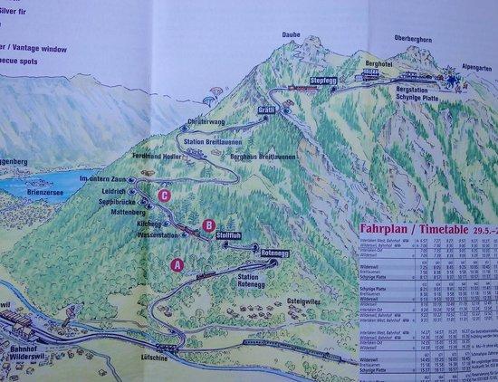 Schynige Platte : Map of trip.