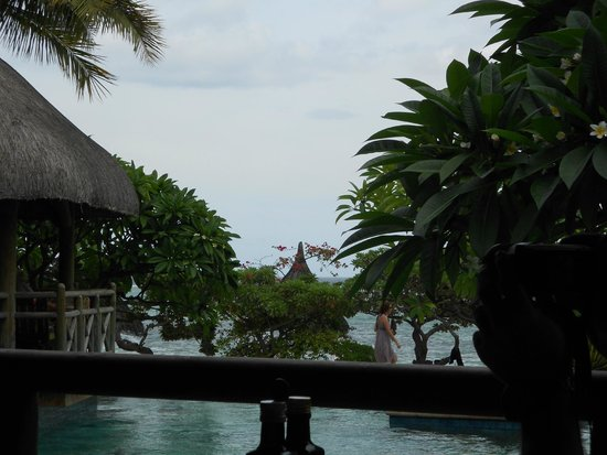 La Pirogue Resort & Spa-Mauritius : View while having lunch at Paul and Virginie Restaurant