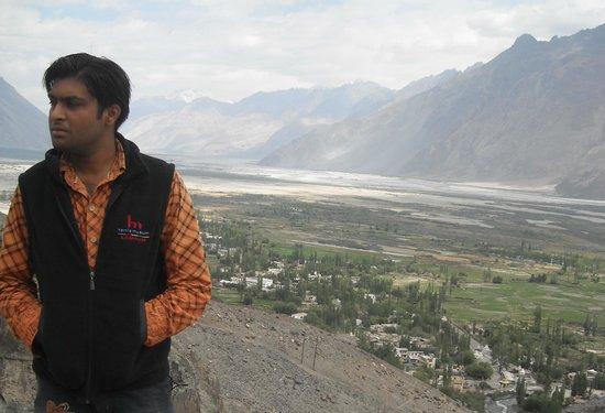 Diskit Gompa (Diskit Monastery): Nubra valley view