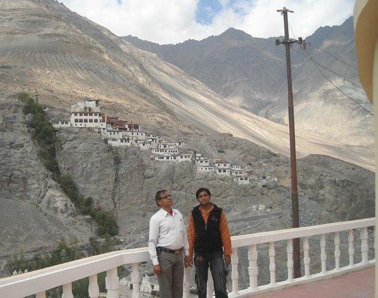 Diskit Gompa (Diskit Monastery): Old Monastery view from open monastery