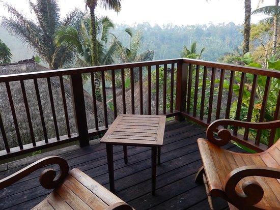 Nandini Bali Jungle Resort & Spa: 大きなバルコニーからバリの大自然を満喫