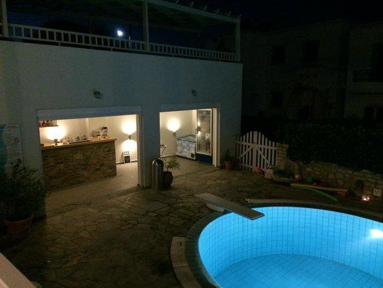 Filoxenia Apartments: Piscina e angolo bar