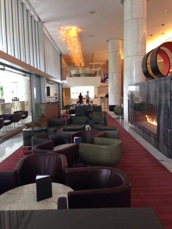 Fairmont Pacific Rim: The lounge area.
