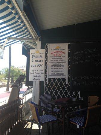 Sunset Bar: Sign that make me laugh