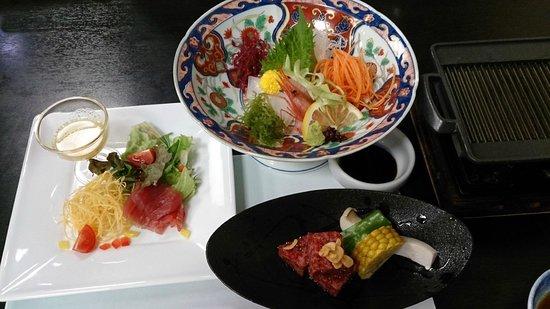 Ryokan Yuhigaura: 夕食