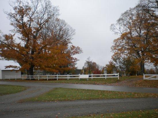 Peacham, Вермонт: cemetery gate